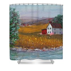 New York Lilacs Shower Curtain