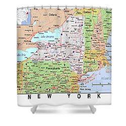 New York Map Shower Curtain