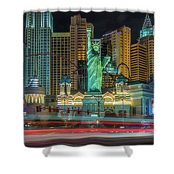Shower Curtain featuring the photograph New York New York by Michael Rogers