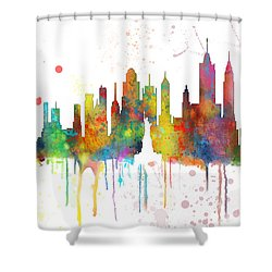 New York Ny Skyline Shower Curtain