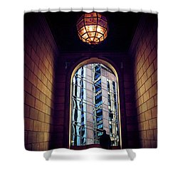 Shower Curtain featuring the photograph New York Perspective by Jessica Jenney