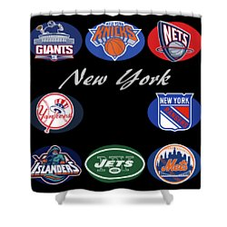 New York Professional Sport Teams Collage  Shower Curtain