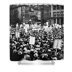 New York: Seamens Strike Shower Curtain by Granger