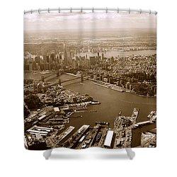 New York Skyline Shower Curtain by Chris Fraser