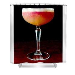 New York Sour Cocktail Shower Curtain by Nikki G Davidson