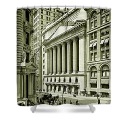 New York Stock Exchange Under Construction 1903 Shower Curtain