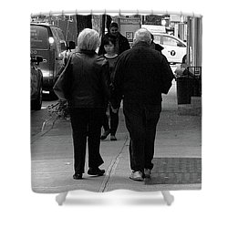 Shower Curtain featuring the photograph New York Street Photography 75 by Frank Romeo