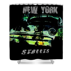 New York Streets Shower Curtain