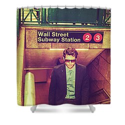 New York Subway Station Shower Curtain