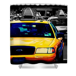 New York Taxi Shower Curtain by Christopher Woods