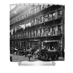 New York: Tenements, 1912 Shower Curtain by Granger