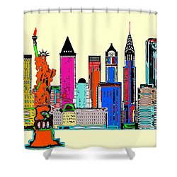 New York - The Big City Shower Curtain