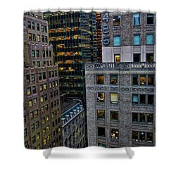 Shower Curtain featuring the photograph New York Windows by Joan Reese