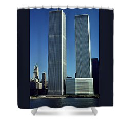 New York World Trade Center Before 911 - Architecture Shower Curtain by Art America Gallery Peter Potter