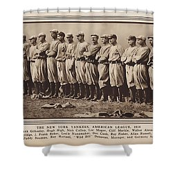 Shower Curtain featuring the photograph New York Yankees 1916 by Daniel Hagerman