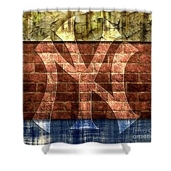 New York Yankees Brick 2 Shower Curtain