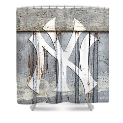 New York Yankees Rustic 2 Shower Curtain