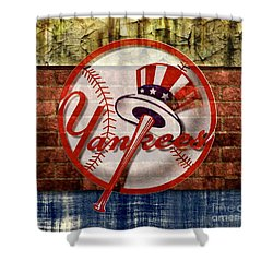 New York Yankees Top Hat Brick 2 Shower Curtain