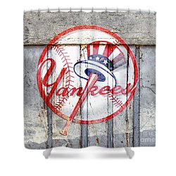 New York Yankees Top Hat Rustic 2 Shower Curtain