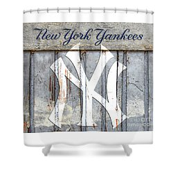 New York Yankees Rustic Shower Curtain