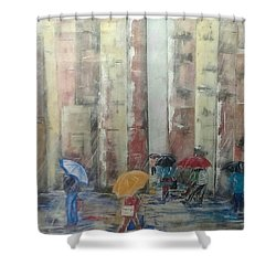 New Yorkers Shower Curtain by Judi Goodwin