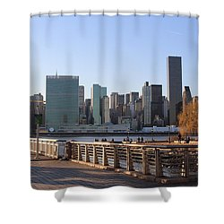 New York's Skyline - A View From Gantry Plaza State Park Shower Curtain