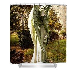 New Zealand Angel Shower Curtain