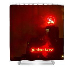 Newark Budweiser Shower Curtain