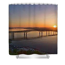 Newburgh-beacon Bridge May Sunrise Shower Curtain