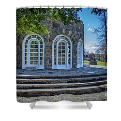 Newburgh Downing Park Shelter House Side View Shower Curtain