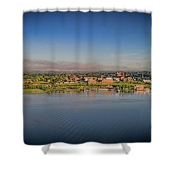 Newburgh, Ny From The Hudson River Shower Curtain