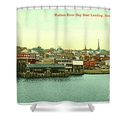 Newburgh Steamers Ferrys And River - 15 Shower Curtain