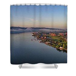 Newburgh Waterfront At Sunrise Shower Curtain