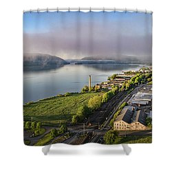 Newburgh Waterfront Looking South 2 Shower Curtain