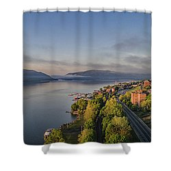 Newburgh Waterfront Looking South Shower Curtain