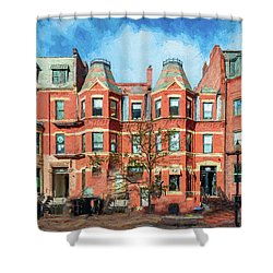 Newbury Street In Boston Shower Curtain