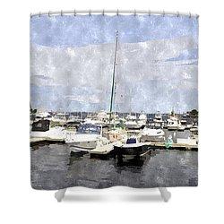 Newburyport Harbor Nhwc Shower Curtain