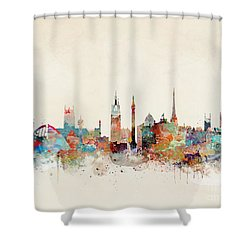 Shower Curtain featuring the painting Newcastle England by Bri B