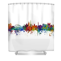 Newcastle England Skyline Custom Panoramic Shower Curtain