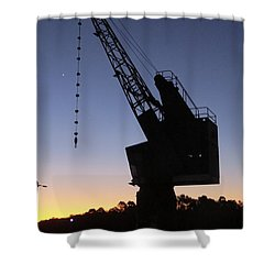 Newington Armoury Crane Shower Curtain