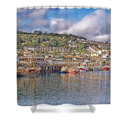 Newlyn Harbour Cornwall 2 Shower Curtain