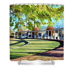 Shower Curtain featuring the photograph Newnan Park Ampitheatre by Roberta Byram