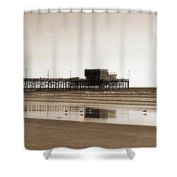 Shower Curtain featuring the photograph Newport Beach Pier by Everette McMahan jr