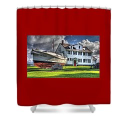 Newport Coast Guard Station Shower Curtain
