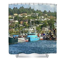 Newport Harbor Shower Curtain by James Eddy