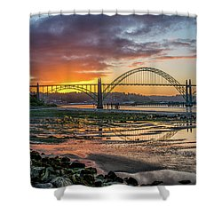Newport Or Greeting Shower Curtain
