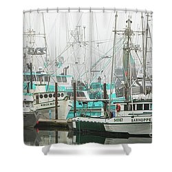 Newport, Oregon Fishing Fleet Shower Curtain by Jerry Fornarotto