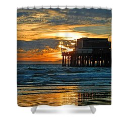 Shower Curtain featuring the photograph Newport Pier,  California by Everette McMahan jr