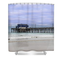 Newport Pier Shower Curtain