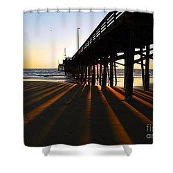 Newport Pier, Newport Beach   Shower Curtain
